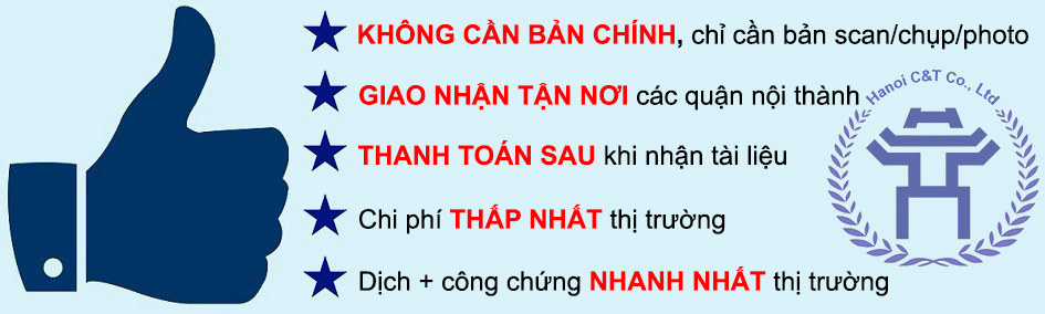 dịch thuật công chứng chất lượng cao tại Hà Nội