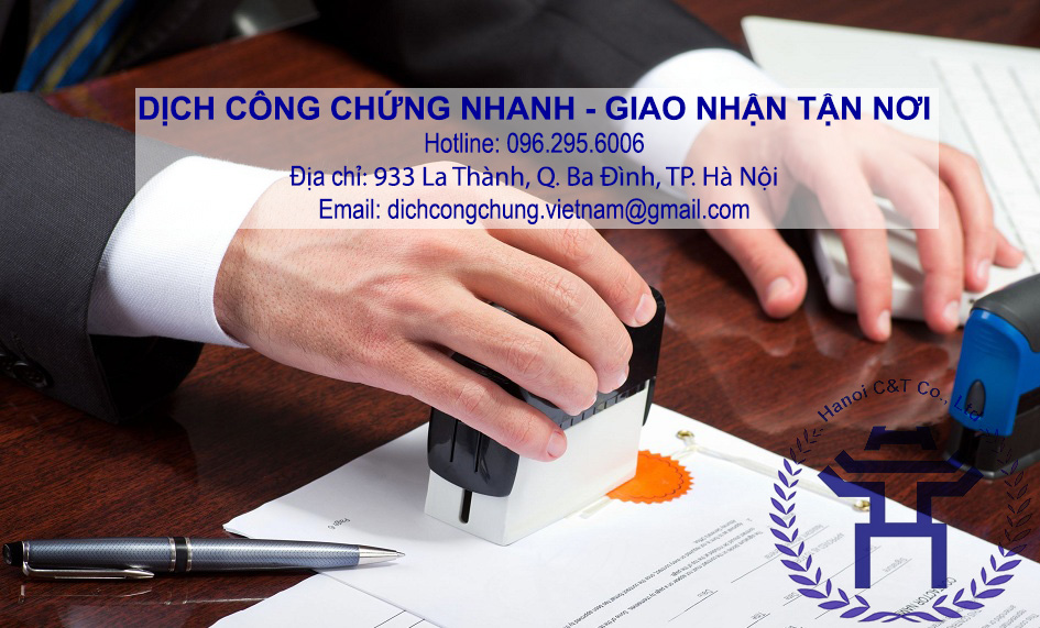dịch thuật công chứng nhanh dịch công chứng tại Hà Nội giá rẻ dịch công chứng tiếng Anh lấy ngay trong ngày