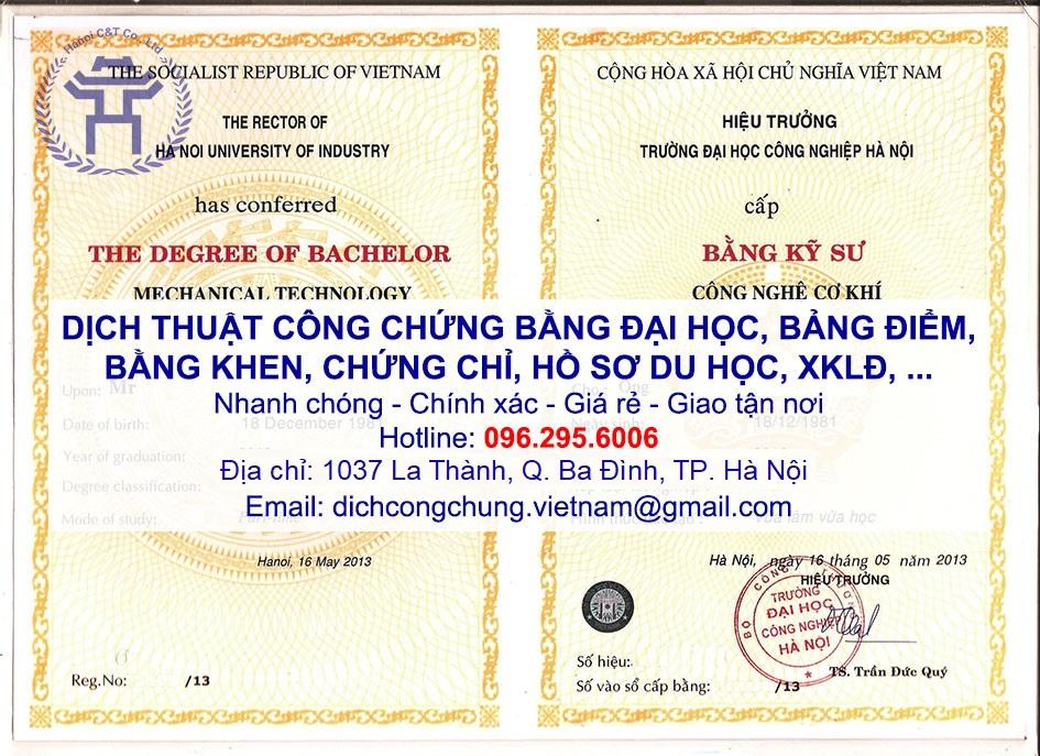 dịch thuật công chứng bằng đại học bảng điểm giấy khen chứng chỉ tại hà nội sao y bản chính chứng thực bản sao lấy nhanh giá rẻ