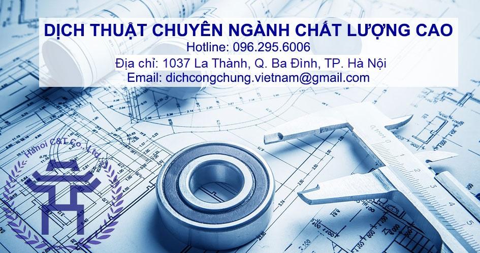 dịch thuật tài liệu chuyên ngành chất lượng cao giá rẻ tại Hà Nội