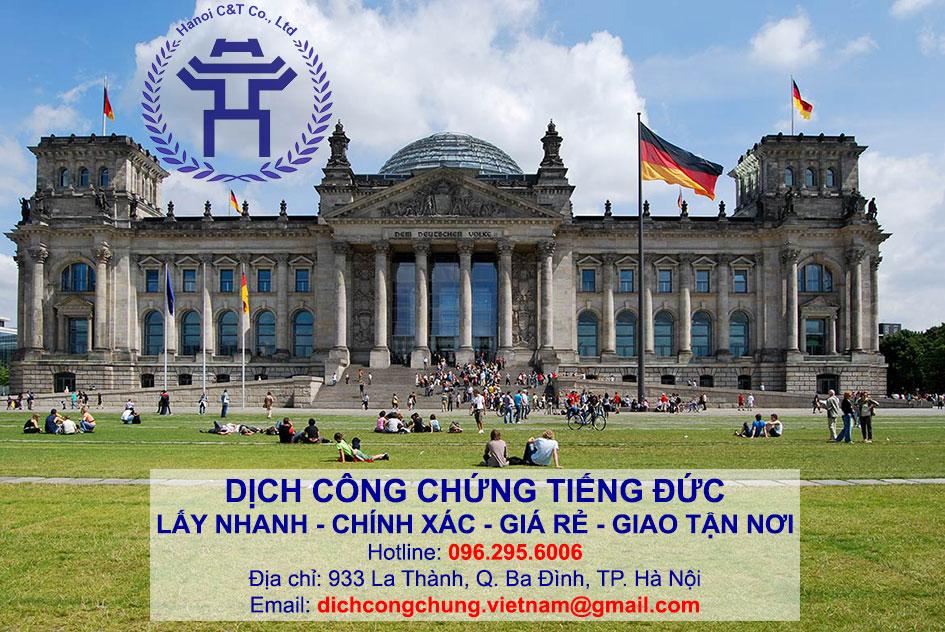 dịch thuật công chứng dịch công chứng tiếng Đức lấy nhanh tại Hà Nội