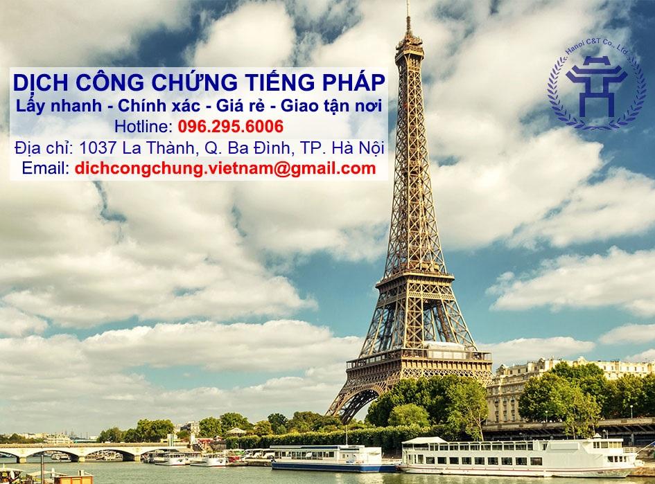 sao y bản chính chứng thực bản sao dịch công chứng tiếng Pháp nhanh tại Hà Nội