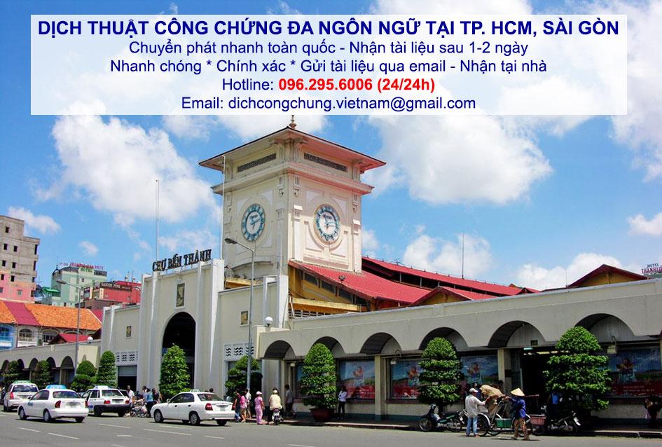 dịch thuật công chứng nhanh giá rẻ tại TP Hồ Chí Minh Sài Gòn