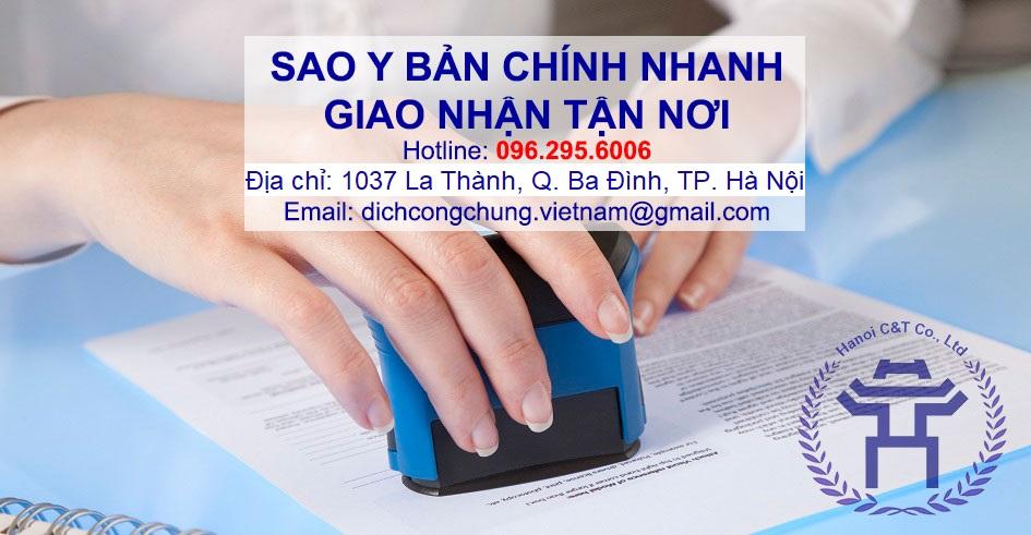 sao y bản chính dịch thuật công chứng nhanh giá rẻ công chứng nhanh tại hà nội