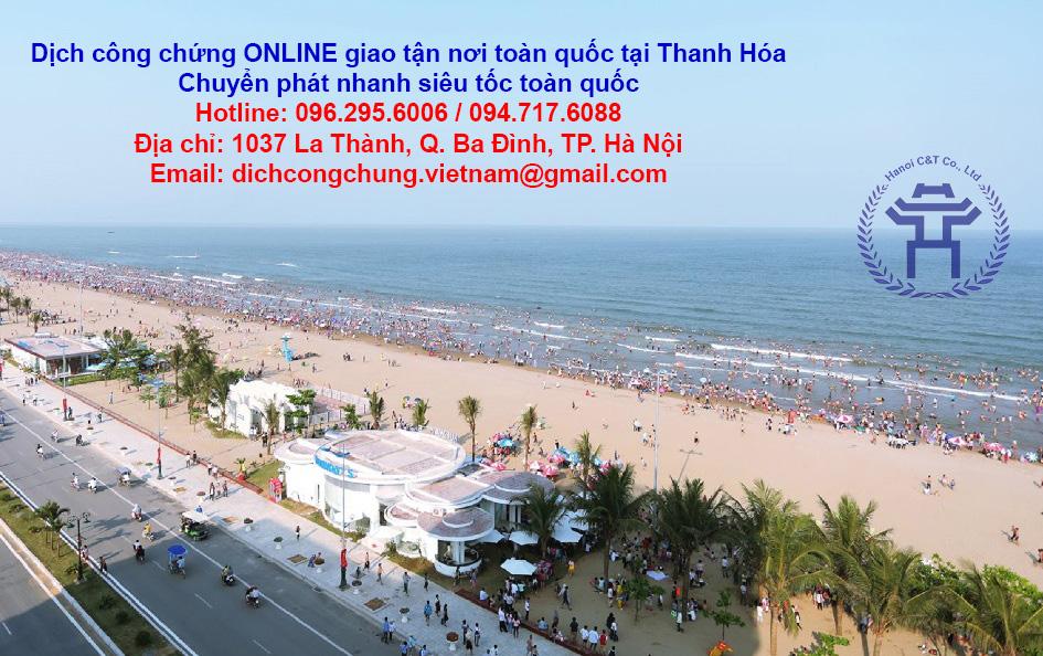 dịch thuật công chứng tại Thanh Hóa sao y công chứng dịch công chứng nhanh online