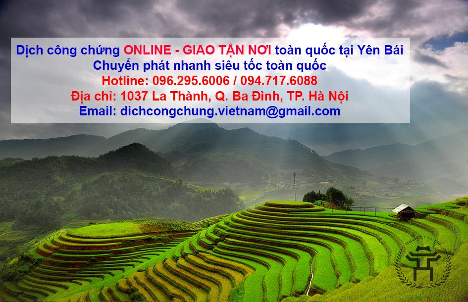 dịch thuật công chứng tại yên bái dịch công chứng online văn phòng dịch thuật yên bái